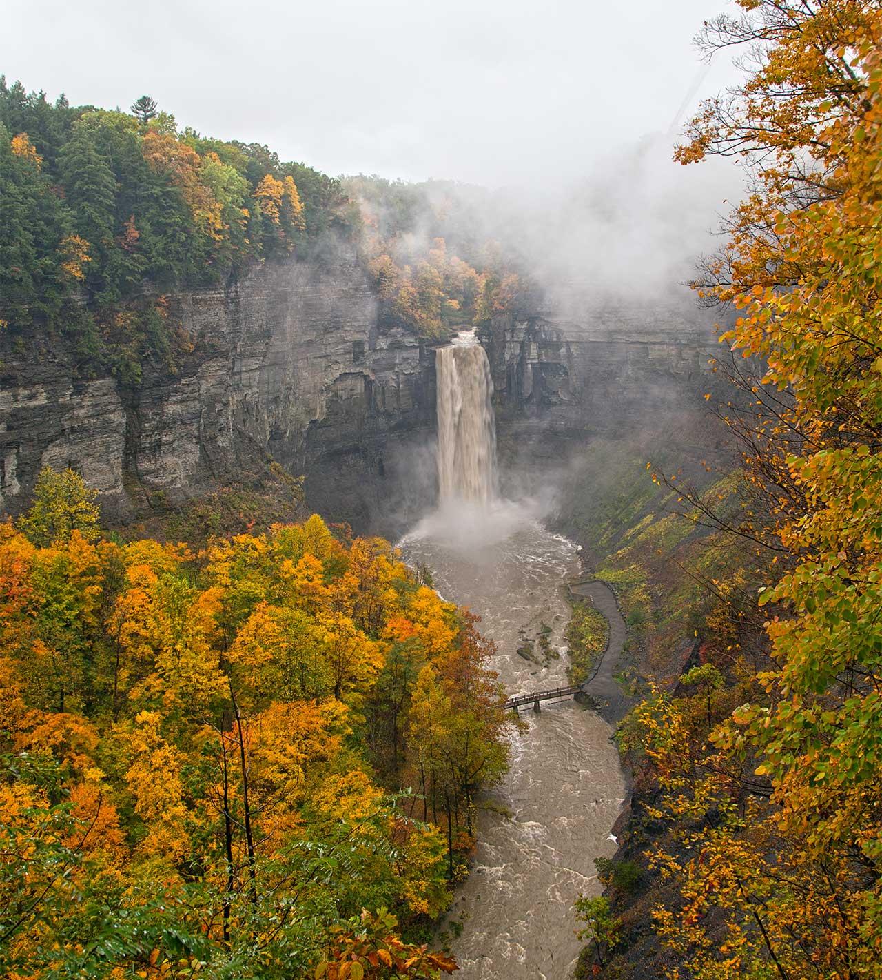 Taughannock Falls by Rachel Burkholder